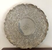 Mauser Manufacturing Co. Antique Sterling Silver Cake Serving Platter Tray 12