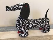 Ooak Handmade Dachshund Dog Stuffed Toy Perfect Gift For Doxie Lovers Wiener