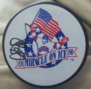 Al Michaels Signed Autographed Team Usa Miracle On Ice Hockey Puck 1980 Olympics