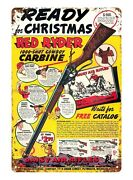 Red Ryder Daisy Bb Guns Ad Cowboy Carbine Rifle Metal Tin Sign Old With Wall