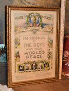 Ex-rare 1919 World War Of Dem. In Honor Of The Boys Who Won Worldand039s Peace Print