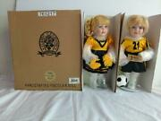 Classic Creations Adam And Audrey Cheerleader And Soccer Porcelain Dolls