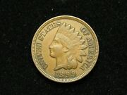 New Inventory Au 1899 Indian Head Cent Penny W/ Full Liberty And Diamonds 181s