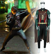 Titans Robin Cosplay Costumes Teen Titans Dick Grayson Halloween Outfits Lot
