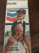 1973 Chevron Road Map Of Florida New Old Stock