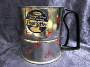 Vintage Androck 3-screen 4-c 1-hand Mechanical Flour-sifter Powder Ingredients