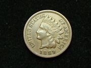 New Inventory Au 1889 Indian Head Cent Penny W/ Full Liberty And Diamonds 191s