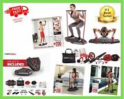 Portable Gym With 8 Accessories Heavy Resistance Band Tricep Bar Ab Fbw Home New