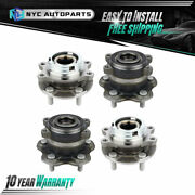 2x Front + 2x Rear Wheel Hub Bearing For 2009-2014 Nissan Murano 2wd 11-17 Quest