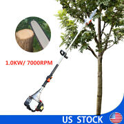 Gas Pole Chain Saw Gasoline 37cc 4stroke 140f Tree Trimming, Pruning Air-cooled