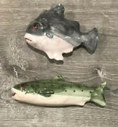 Vietri Fish Salt And Pepper Shakers Made In Italy