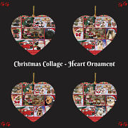 Love Is Being Owned Christmas Dog Cat Pet Photo Heart Christmas Tree Ornament