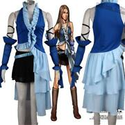 Final Fantasy X-2 Yuna And Lenne Songstress Dress Cosplay Costume Full Set