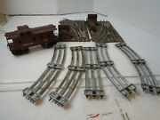 Lionel 027 Remote Control Switches No. 5121 5122 4 Curves 1 Straight Car6017 Lot