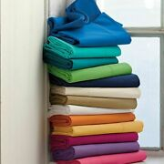6 - Pic Premium Sheet Set 1200 Tc Egyptian Cotton Queen Size All Solid Colors