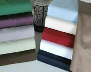 6 - Pic Premium Sheet Set 1200 Tc Egyptian Cotton Twin Size All Solid Colors