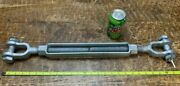 Chf 1 X 12 Galvanized Turnbuckle 24 - 36 Jaw And Jaw Wll 10000lbs