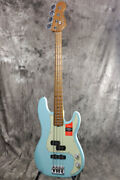New Fender Limited Edition American Pro Pj Bass Roasted Neck Daphne Blue Maple