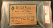 1950 Psa Ticket Pass Whitey Ford 1st Win Rc/gil Hodgers 4 Hr One Gm/mantle Sits