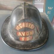 Cairns And Brother Leather Firemans Helmet Active Avon Fd