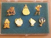 Premiere Beauty And The Beast Disney Pin Collection Boxed Set Of 7 Pins