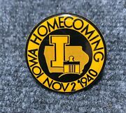 1940 Iowa Hawkeyes Homecoming Rare Old Vintage College Football Badge Pin Button
