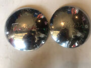 Pair 1950's Nash Dog Dish Hubcap 7 1/4 Id And 9 7/8 Od 10 Wheel Cover Cap Poverty