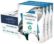 Hammermill Great White 30 Recycled 20lb Copy Paper 8.5 X 11 3 Ream Case 1500