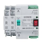 1xdual-power Automatic Transfer Switch 2p 100a Household 35mm Rail Install D7p2