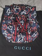 Ghost Graffiti Canvas Leather Backpack Rare 100 Authentic New