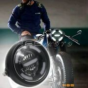 5.75-6.5 Retro Motorcycle Led Headlight Drl Driving Lamp Side Mount For Harley