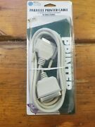 New 10 Ft Parallel Printer Cable 25-pin Male 36-pin Male Centronic Bidirectional