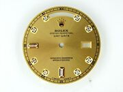 Rolex Mens Day-date Yellow Gold Champagne Color Dial With 8+2 Diamonds Dials
