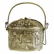 Antique 19th Ce Chinese Silver Food Container