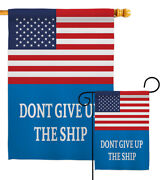 Us Commodore Perry Garden Flag Patriotic Historic Decorative Yard House Banner