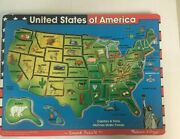 United States Of America Map Sound Puzzle Melissa And Doug. Says State And Capital