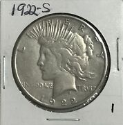 1922s Peace Silver One Dollar Us Coin Free Shipping