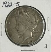 1922s Peace Silver One Dollar Coin Free Shipping