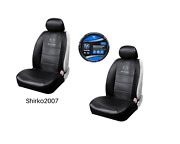 New Pair Dodge Ram Synthetic Leather Sideless Seat Covers And Steering Wheel Cover