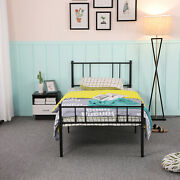 Single Bed Solid 3ft Metal Beds Frame With Large Storage Space Single Bedstead