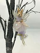 Katherines Collection Ornament Bunny Rabbit Fairy Lavender Wings Sequin Sparkle