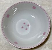 Swid Powell And039tuxedoand039 Pattern Pink And White Small 5.5andrdquo Cereal Bowl Dish