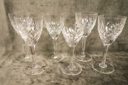 St. Louis Crystal Chantilly Water Goblet 7 7/8 Set Of 6