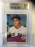 1985 Topps 181 Roger Clemens Rookie Beckett Grade 8.5 Nm-mt+ Rc Boston Red Sox
