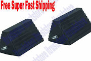 2pc Large Solid Rubber Trailer Truck Wheel Tire Safety Chock Chalk Wedge Stopper