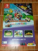Paper Mario The Origami King Giant Double-sided Promotional Poster - 48 X 33