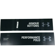 New Under Armour Black Store Retail Display Acrylic 31 Pack Signs Workout Decor