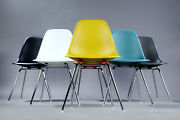 Mid Century Design Charles Eames Multicoloured Shell Chairs Model Dsx 6