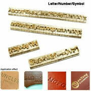 Brass Mold Capital Lowercase Letters Number Symbol T-slot For Hot Foil Stamping