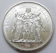 French Coin 10 Franc Hercules 1965 Silver